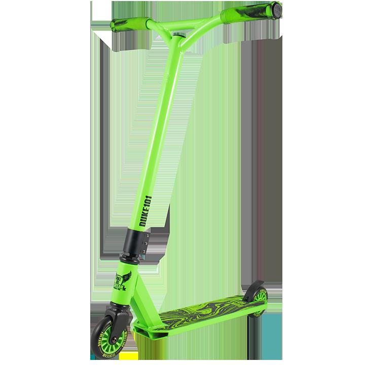 Трюковой самокат TechTeam Duke 101 зеленый