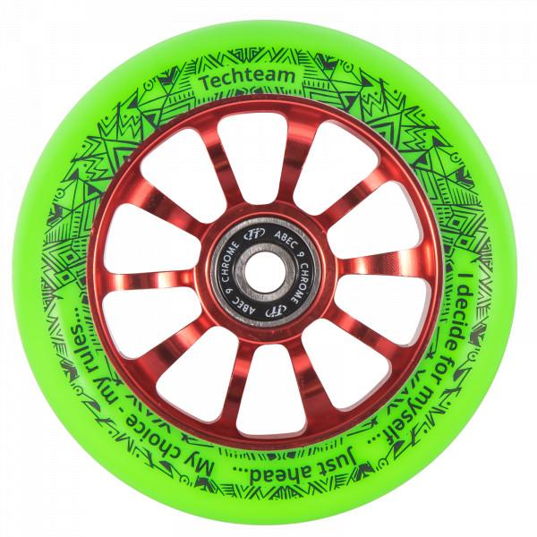 Колесо для трюкового самоката TechTeam 100 mm Winner зеленое