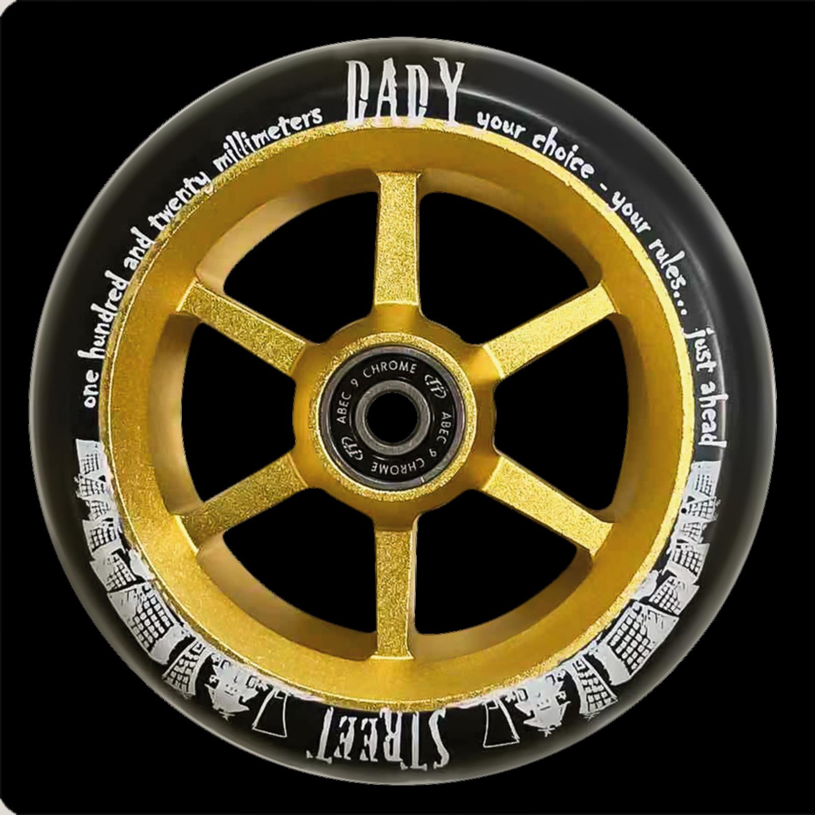 Колесо для трюкового самоката TechTeam 6ST 120 mm Street Dady золото