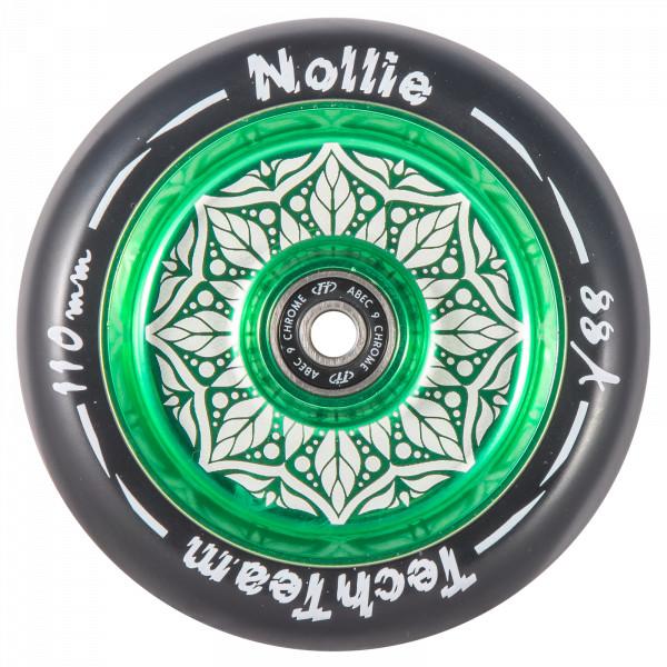 Колесо для трюкового самоката TechTeam Flat Solid 110 mm NOLLIE зеленое
