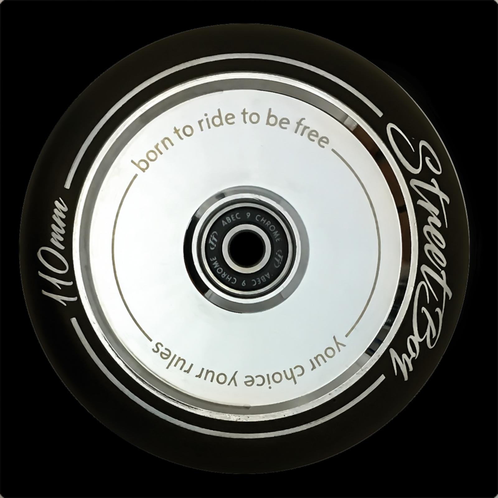 Колесо для трюкового самоката TechTeam Hollow 110 mm Street Boy металлик