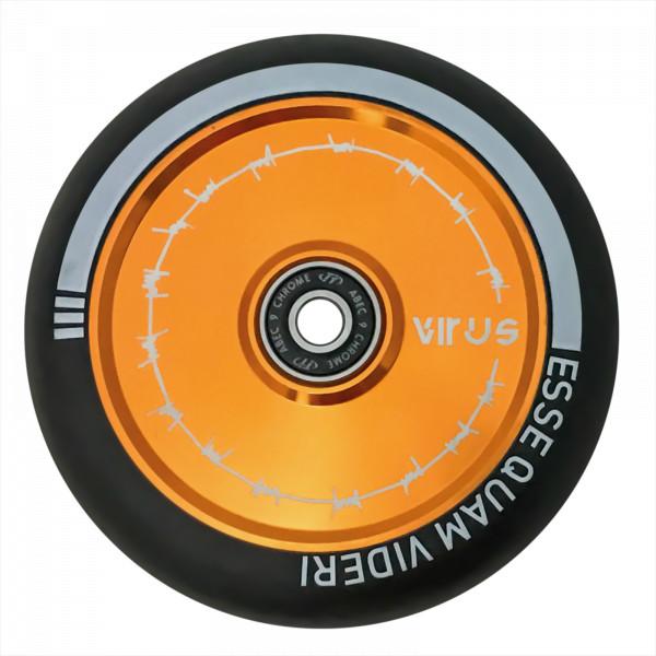 Колесо для трюкового самоката TechTeam Hollow 110 mm VIRUS желтое