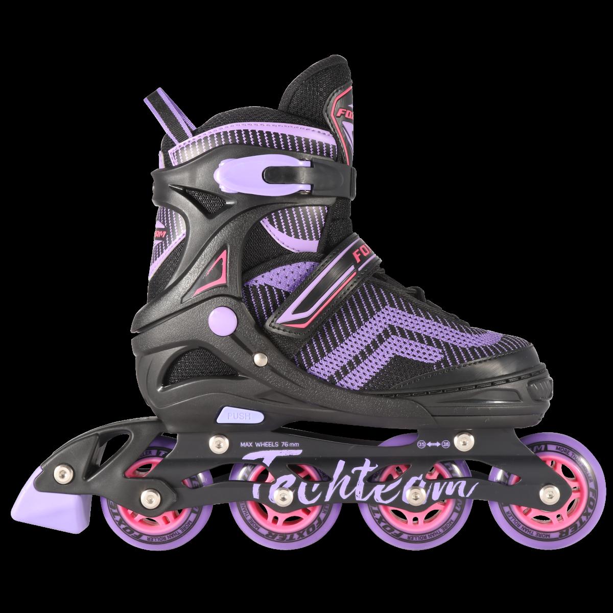 Детские ролики TechTeam Foxter фиолетовый