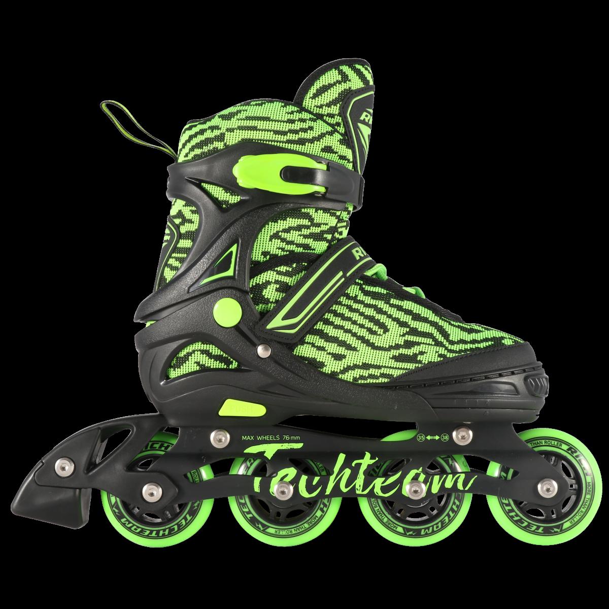 Детские ролики TechTeam Rich зеленые