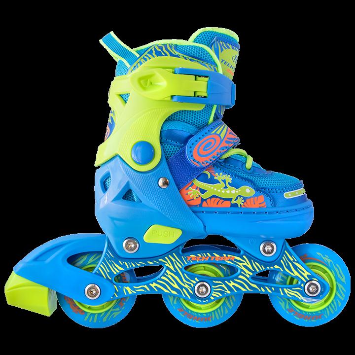 Набор роликовых коньков и защиты детский TechTeam ролики Jungle Set