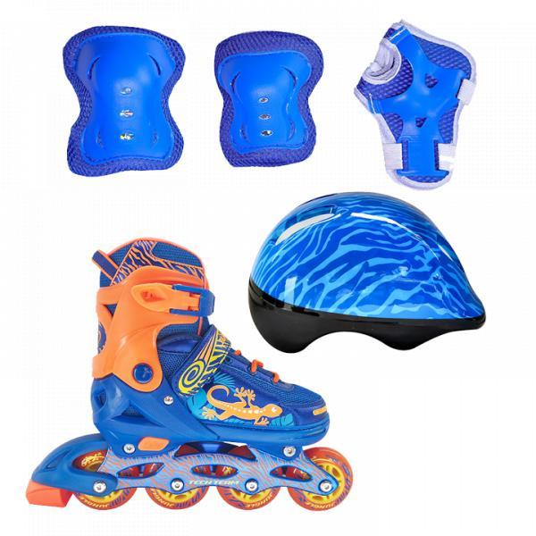 Набор роликовых коньков и защиты детский TechTeam Jungle Set