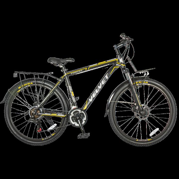 Горный велосипед TechTeam Velvet 26 2019 черно-желтый
