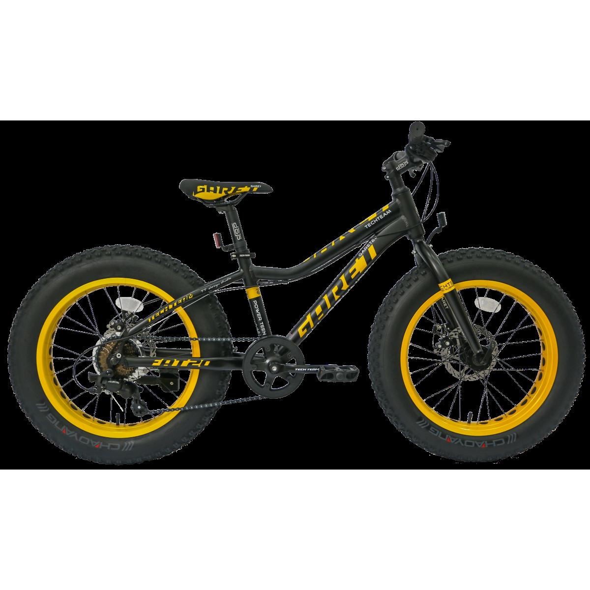 Фэтбайк TechTeam Garet 20 2019 черно-желтый