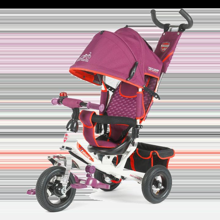 Трехколесный велосипед коляска TechTeam 950D-AT бордовый