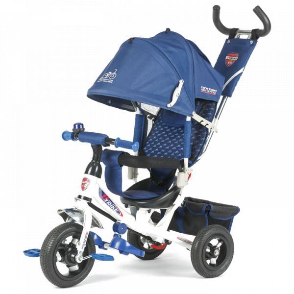 Трехколесный велосипед коляска TechTeam 950D-AT синий