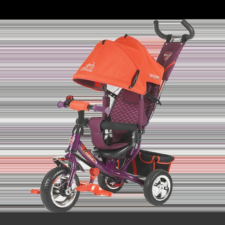 Трехколесный велосипед коляска TechTeam 950D оранжевый