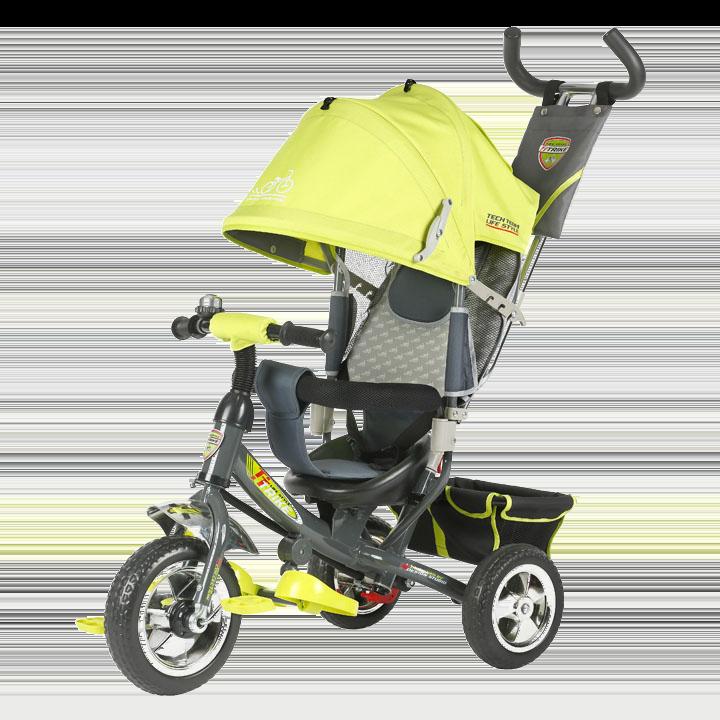 Трехколесный велосипед коляска TechTeam 950D желтый