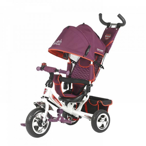 Трехколесный велосипед коляска TechTeam 950D бордовый