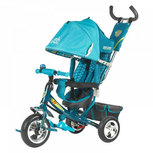 Трехколесный велосипед коляска TechTeam 950D голубой