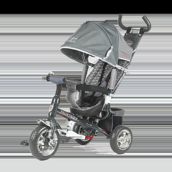 Трехколесный велосипед коляска TechTeam 952S серый