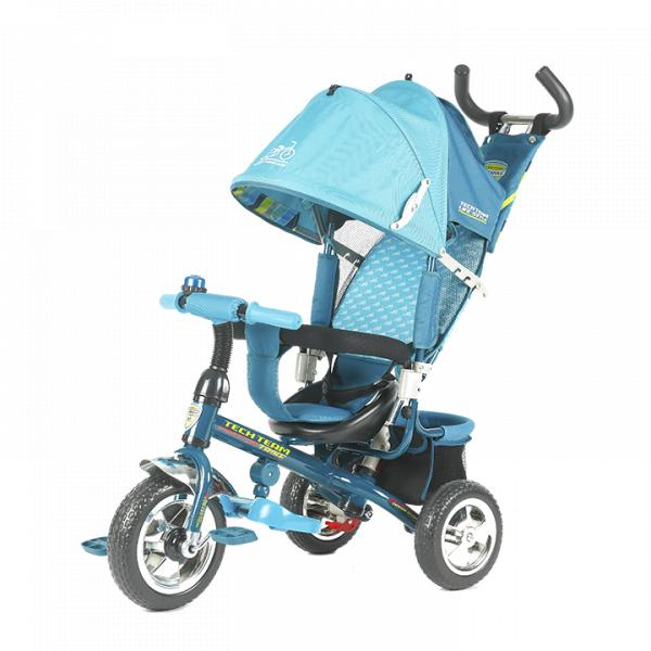 Трехколесный велосипед коляска TechTeam 952S голубой