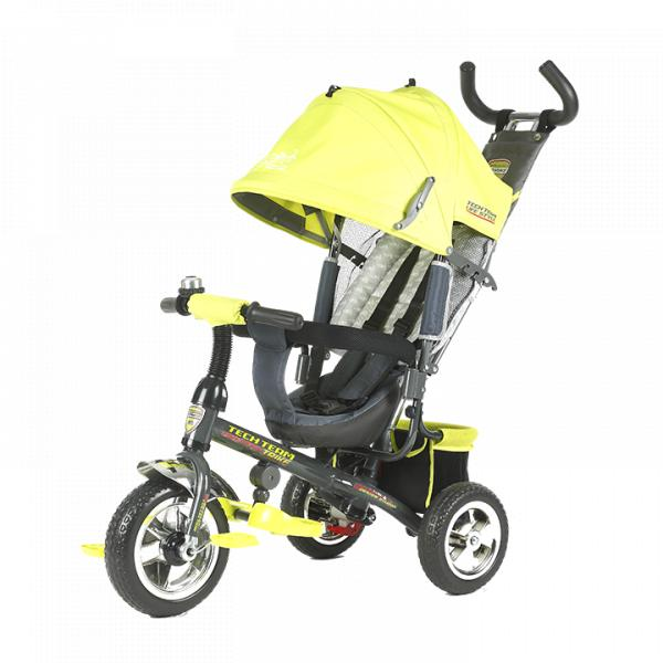 Трехколесный велосипед коляска TechTeam 952S желтый
