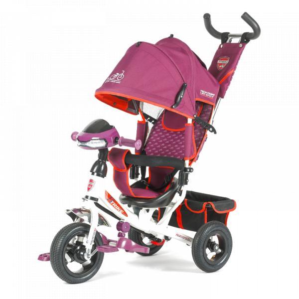 Трехколесный велосипед коляска TechTeam 950D-ATMH 2018 бордовый