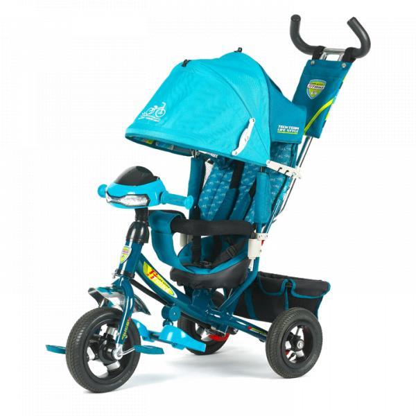 Трехколесный велосипед коляска TechTeam 950D-ATMH 2018 голубой