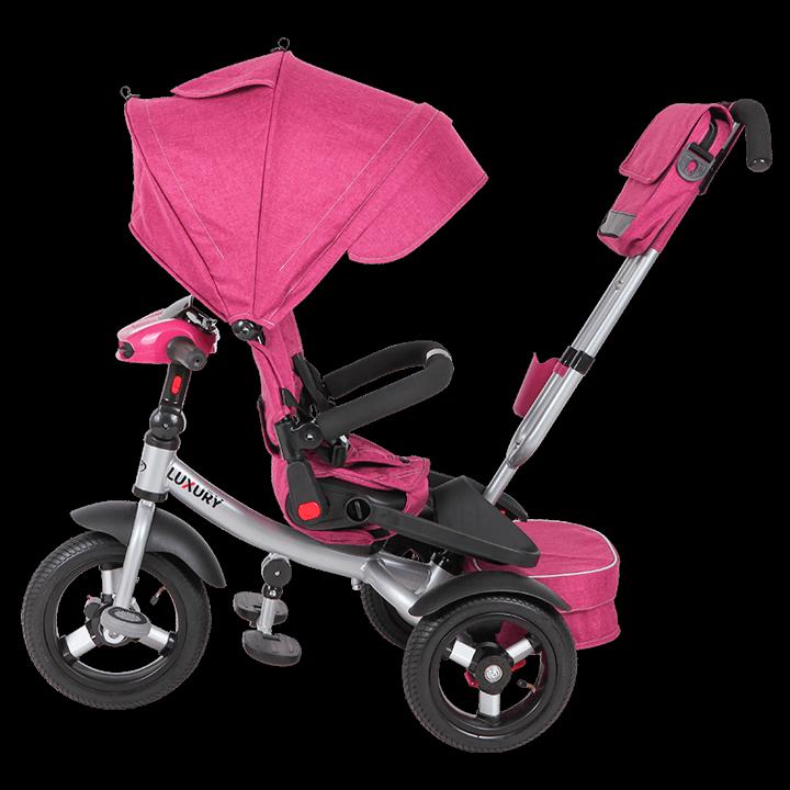 Трехколесный велосипед коляска TechTeam Luxury 2018 розовый