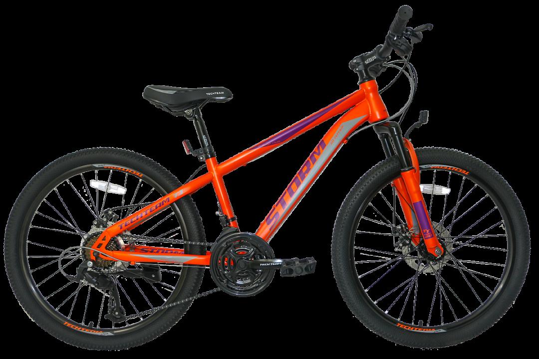 Подростковый велосипед TechTeam Storm 24 красный
