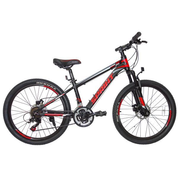 Подростковый велосипед TechTeam Sprint 24 черный