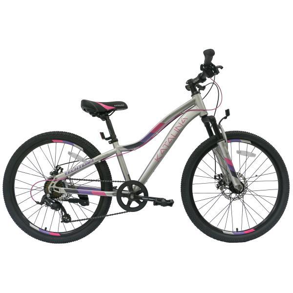 Подростковый велосипед TechTeam Katalina 24 серый