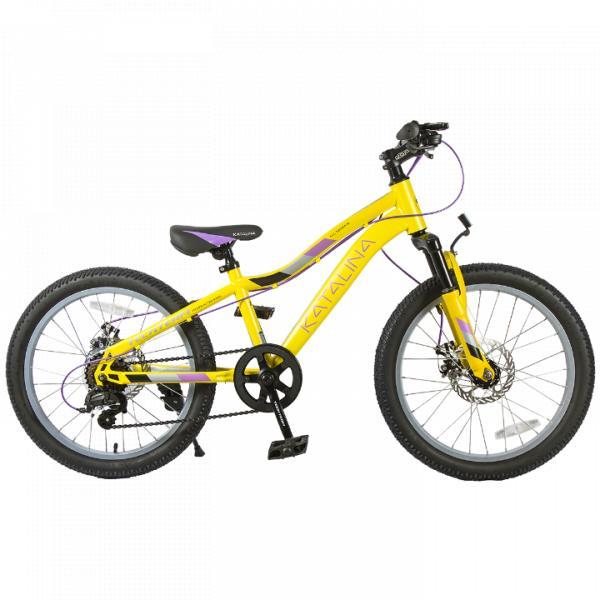 Подростковый велосипед TechTeam Katalina 20 желтый
