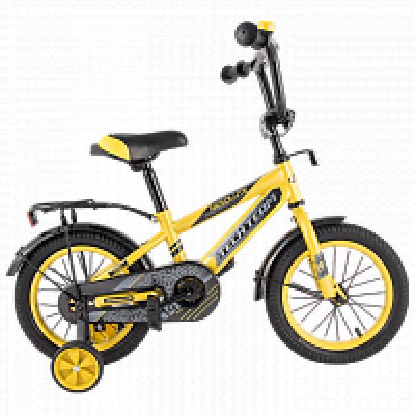 Детский велосипед TechTeam Рама 134 2019 желтый