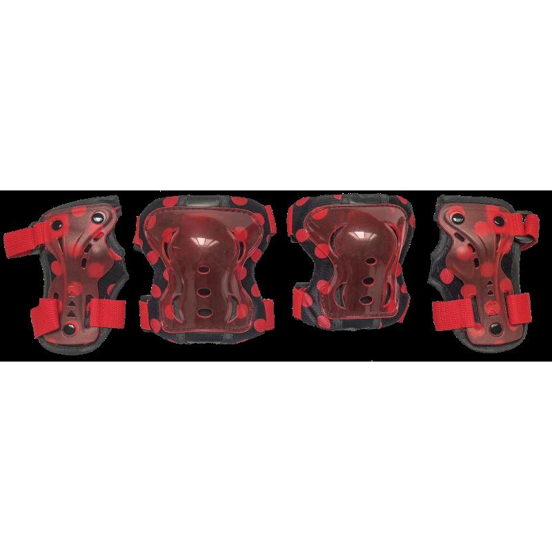 Комплект защиты для катания на роликах TechTeam красныйSafety Line 300