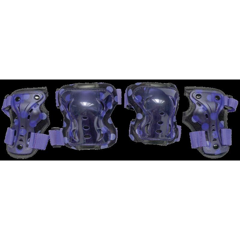 Комплект защиты для катания на роликах TechTeam Safety Line 300 фиолет