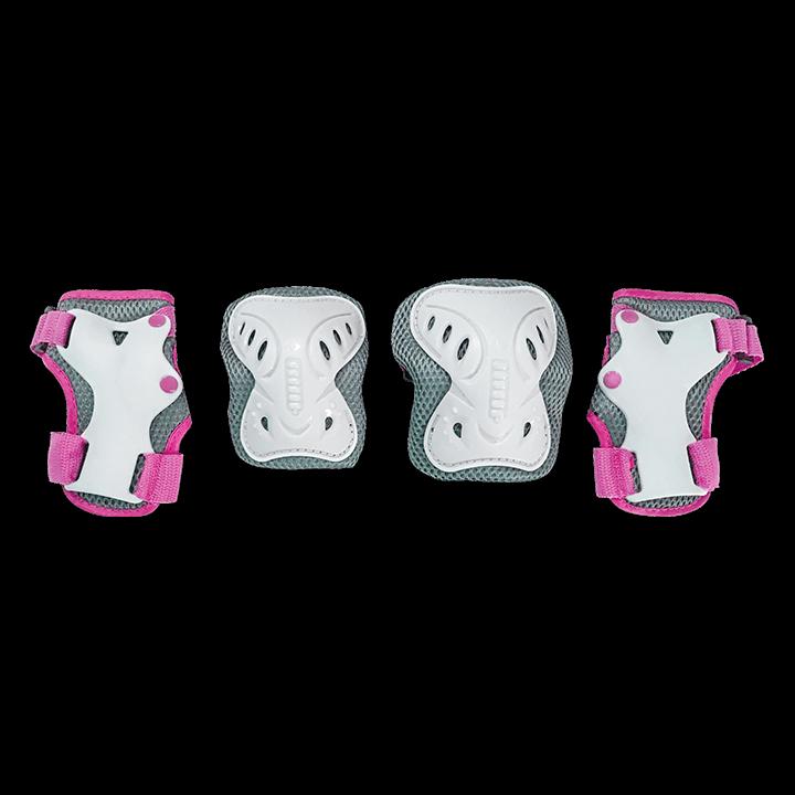 Комплект защиты для катания на роликах TechTeam Safety Line 200 розовый