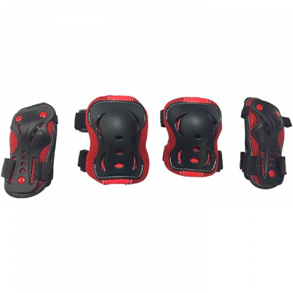 Комплект защиты для катания на роликах TechTeam Safety Line 700 красный