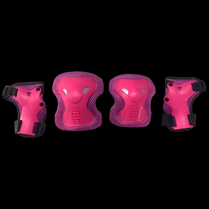 Комплект защиты для катания на роликах TechTeam Safety Line 600 розовый