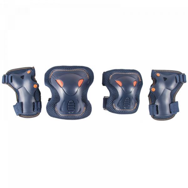 Комплект защиты для катания на роликах TechTeam Safety Line 600 синий