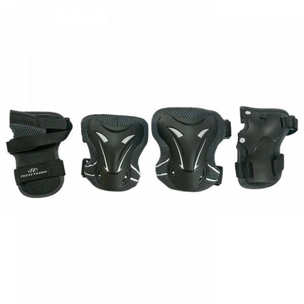 Комплект защиты для катания на роликах TechTeam Safety Line 400 черный