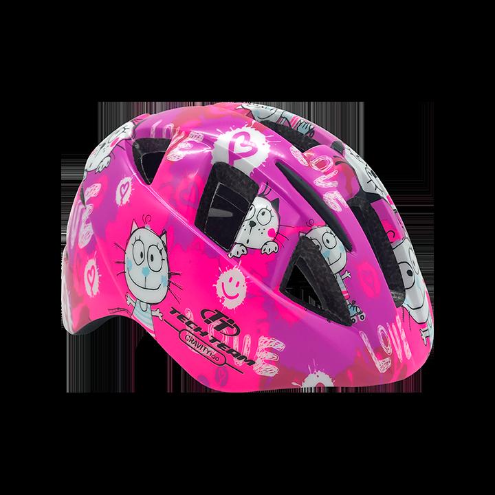 Шлем защитный детский TechTeam Gravity 100 розовый