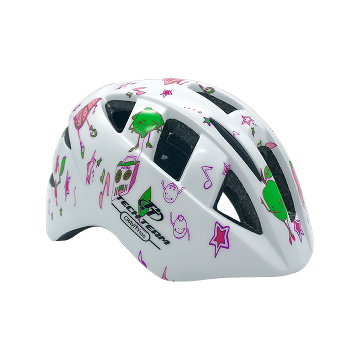Шлем защитный детский TechTeam Gravity 100 белый