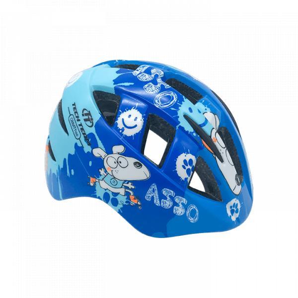 Шлем защитный детский TechTeam Gravity 100 синий