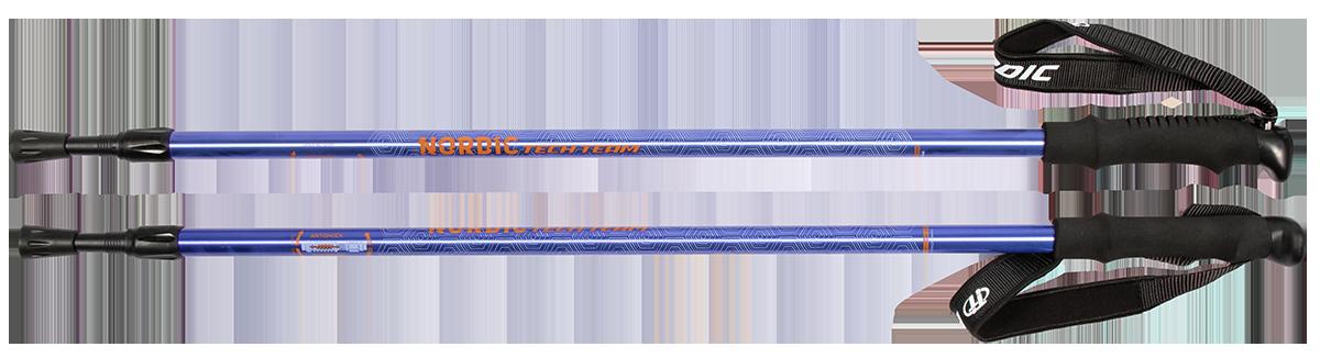 Треккинговые палки для скандинавской ходьбы TechTeam Nordic синие