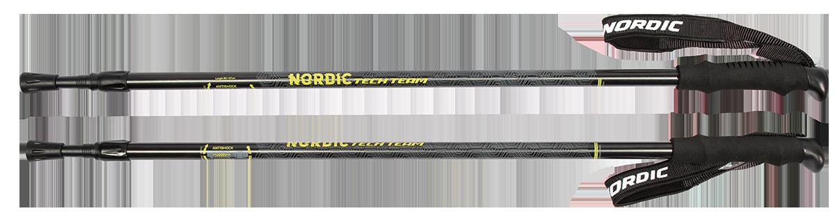 Треккинговые палки для скандинавской ходьбы TechTeam Nordic черные