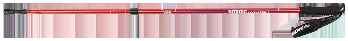 Треккинговые палки для скандинавской ходьбы TechTeam Nordic красные 2