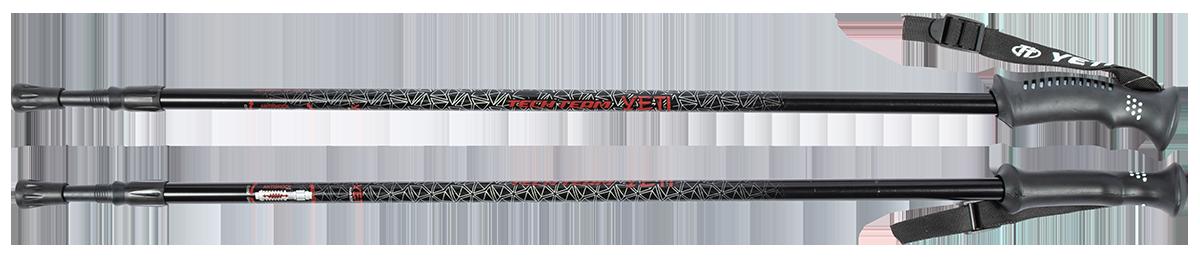 Треккинговые палки для скандинавской ходьбы TechTeam Yeti черные